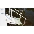 "DOCK 4 STEPS 30""wide  LADDER/ hand rail / aluminum"