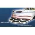 """TRANSOM SHIELD - 105"""" X 5"""" CLEAR PROTECTOR"""