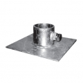 "BASE PLATE 6"" X 6"" X 1/8"" galv."
