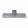 "BASE PLATE 12"" X 6"" X 1/8"" galv."