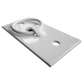 "DOCK EDGE - 10.5"" DOCK CLEAT, OPEN BASE, WHITE*"