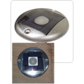 Flush Mount,Aluminum,Solar/ Replaceable, rechargeable battery