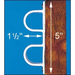 "DOCK EDGE - SINGLE DOUBLE ""D"" PROFILE, 8 FT."