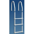 DOCK EDGE 5 STEP GALVALUME LADDER, WHITE